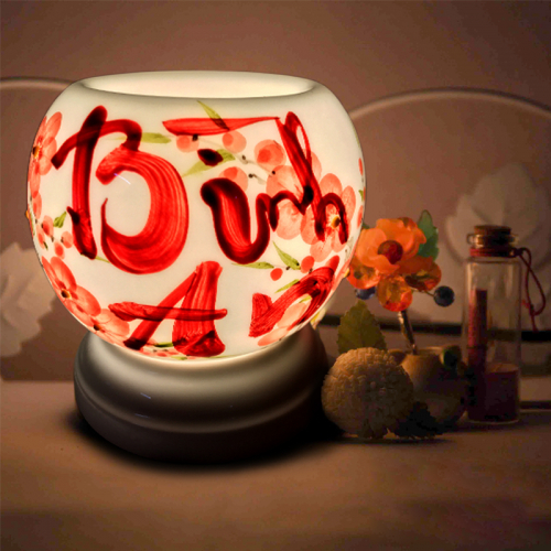 Đèn xông tinh dầu gốm Bát Tràng - Bình An-2