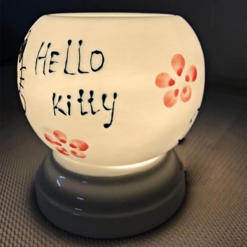 Đèn xông tinh dầu gốm Bát Tràng - Hello Kitty-1