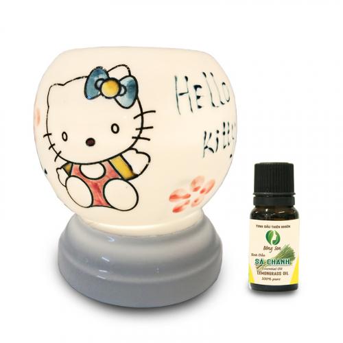 Đèn xông tinh dầu gốm Bát Tràng - Hello Kitty