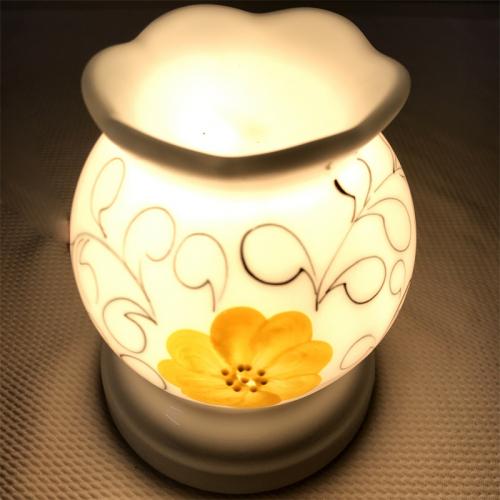 Đèn xông tinh dầu gốm Bát Tràng - Hoa Vàng-3
