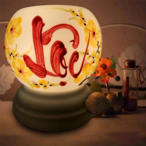 Đèn xông tinh dầu gốm Bát Tràng - Lộc Vàng-3