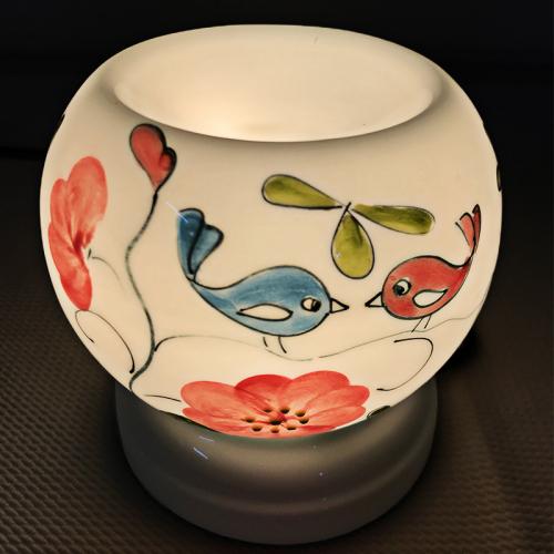 Đèn xông tinh dầu gốm Bát Tràng - Love Bird-3