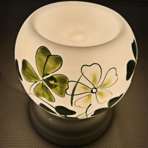 Đèn xông tinh dầu gốm Bát Tràng - Tứ Diệp Thảo-3