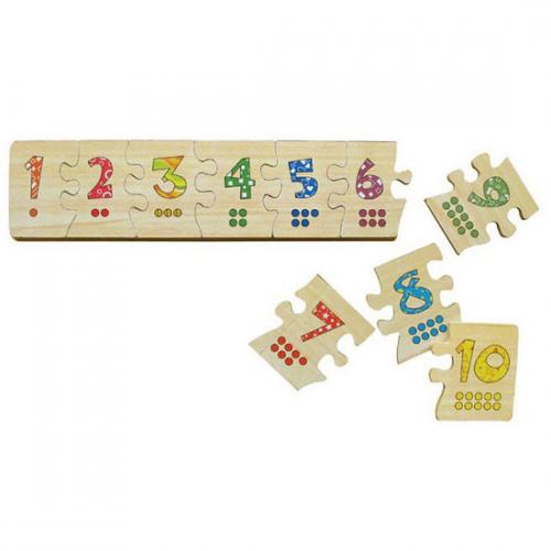 Đồ chơi gỗ Puzzle ghép số Winwintoys 63392-1