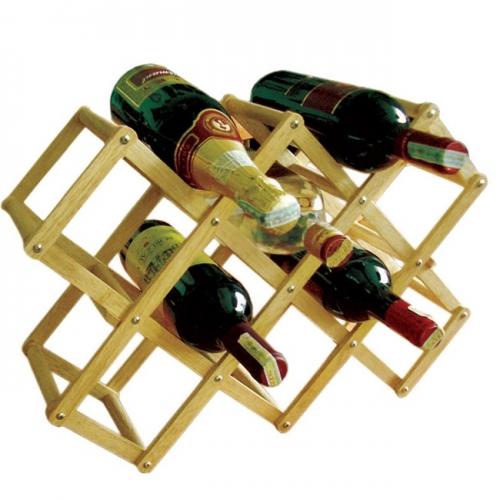 Kệ Rượu Xếp 10 Chai Gỗ Đức Thành 40401