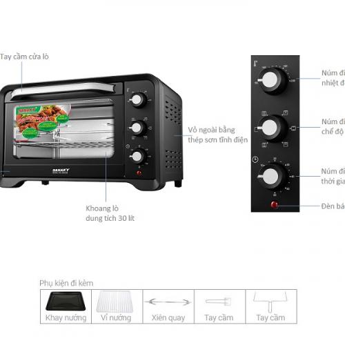 Lò nướng Sanaky VH-309S2D 30 lít-3