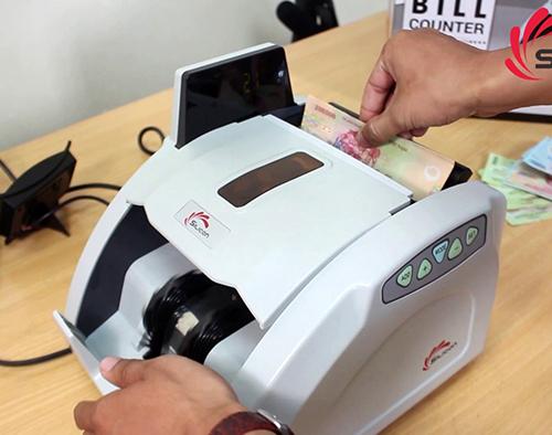 Máy đếm tiền phát hiện tiền siêu giả Silicon MC-8600-5