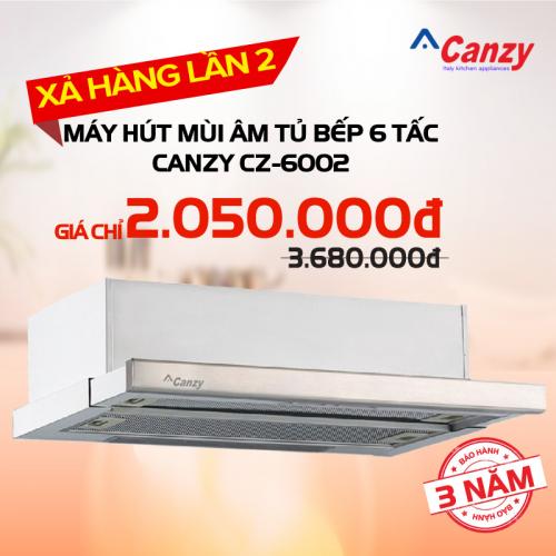 Máy hút mùi âm tủ bếp 6 tấc Canzy CZ-6002