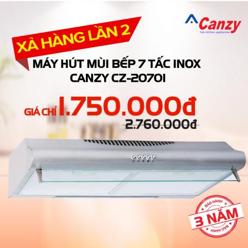Máy hút mùi bếp 7 tấc inox CANZY CZ-2070i