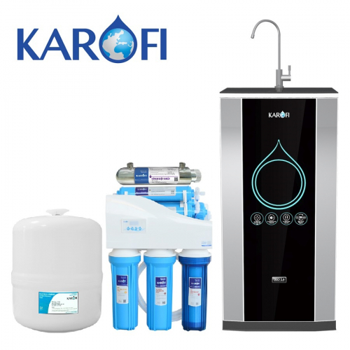 Máy lọc nước iRO KAROFI 2.0 K7IQ-2-UV (7 cấp lọc có tia UV - Bao gồm tủ cường lực)