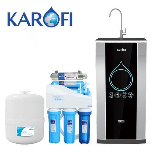 Máy lọc nước iRO KAROFI 2.0 K8IQ-2-UV (8 cấp lọc có tia UV - Bao gồm tủ cường lực)