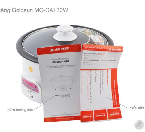 Nồi lẩu điện đa năng GOLDSUN MC-GAL30W-3