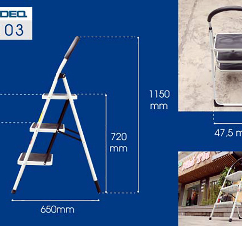 Thang ghế 3 bậc xếp gọn Advindeq ADS103-4