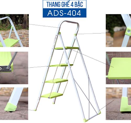 Thang ghế 4 bậc xếp gọn Advindeq ADS404-1