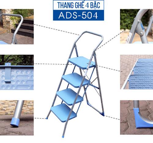 Thang ghế 4 bậc xếp gọn Advindeq ADS504-2