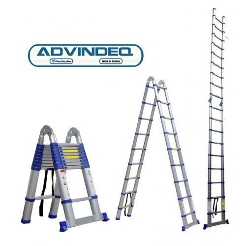 Thang nhôm chữ A rút gọn Advindeq ADT706B