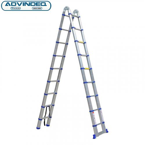 Thang nhôm chữ A rút gọn Advindeq ADT708B-4