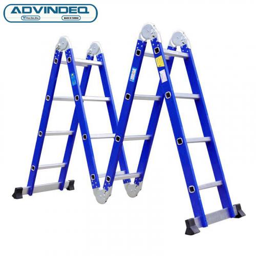 Thang nhôm gấp gọn đa năng 4 đoạn Advindeq ADM104 - Xanh-1