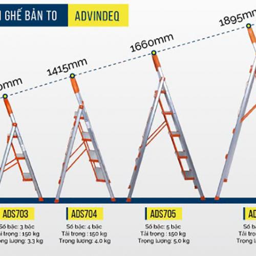 Thang nhôm ghế 3 bậc xếp gọn Advindeq ADS703-1
