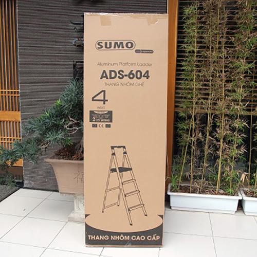 Thang nhôm ghế 4 bậc xếp gọn SUMO ADS-604-2