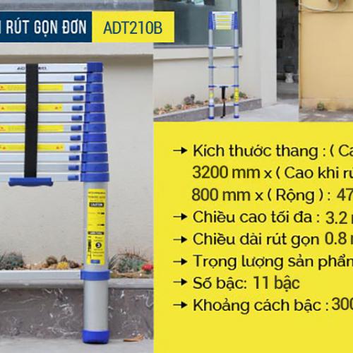 Thang nhôm rút gọn đơn Advindeq ADT210B-3
