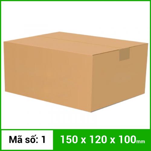 Thùng Carton gói hàng kích thước 150x120x100mm không in