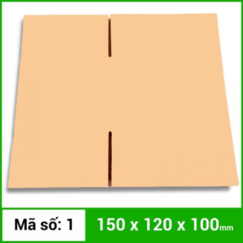 Thùng Carton gói hàng kích thước 150x120x100mm không in-1