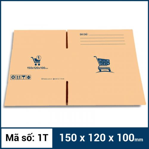 Thùng Carton gói hàng kích thước 150x120x100mm mẫu giỏ hàng-2