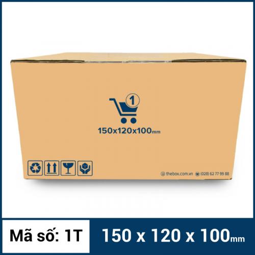 Thùng Carton gói hàng kích thước 150x120x100mm mẫu giỏ hàng-4