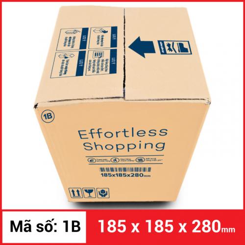 Thùng Carton gói hàng kích thước 185x185x280mm-4
