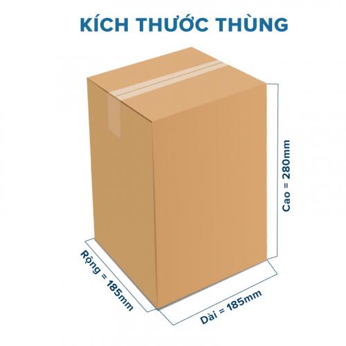 Thùng Carton gói hàng kích thước 185x185x280mm không in-5
