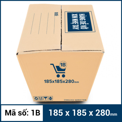 Thùng Carton gói hàng kích thước 185x185x280mm mẫu giỏ hàng-4