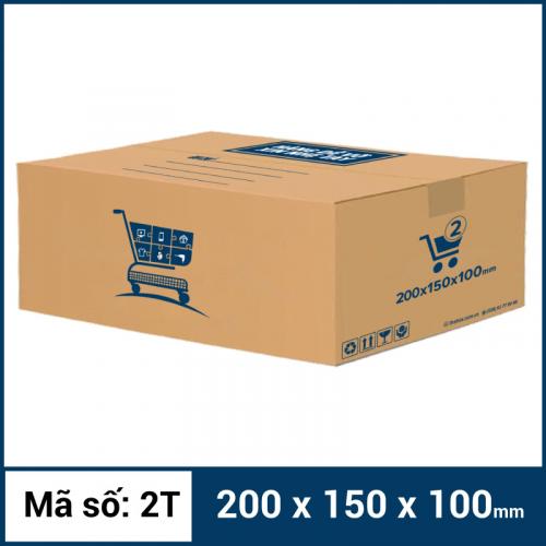 Thùng Carton gói hàng kích thước 200x150x100mm mẫu giỏ hàng-2