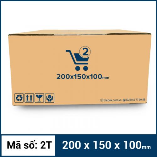 Thùng Carton gói hàng kích thước 200x150x100mm mẫu giỏ hàng-3