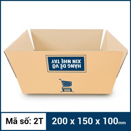Thùng Carton gói hàng kích thước 200x150x100mm mẫu giỏ hàng-4