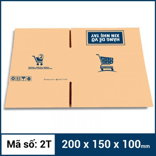 Thùng Carton gói hàng kích thước 200x150x100mm mẫu giỏ hàng-5