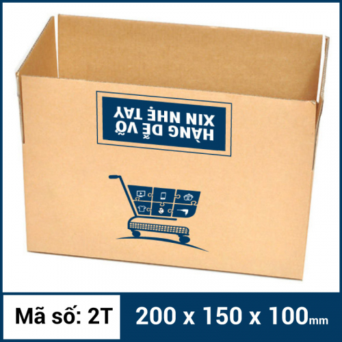 Thùng Carton gói hàng kích thước 200x150x100mm mẫu giỏ hàng-6