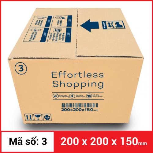 Thùng Carton gói hàng kích thước 200x200x150mm-5