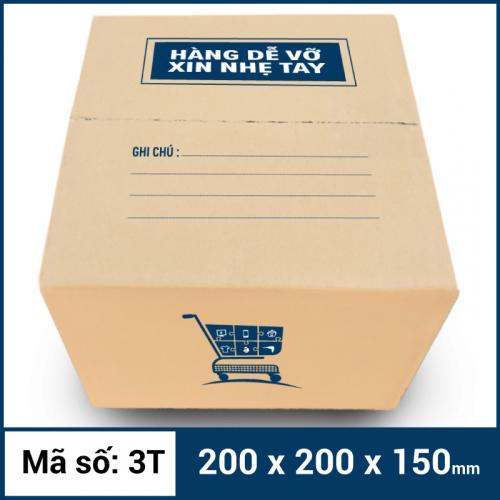 Thùng Carton gói hàng kích thước 200x200x150mm mẫu giỏ hàng-2