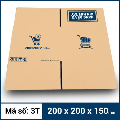 Thùng Carton gói hàng kích thước 200x200x150mm mẫu giỏ hàng-3