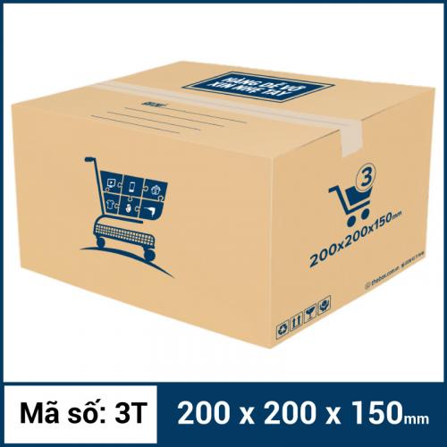 Thùng Carton gói hàng kích thước 200x200x150mm mẫu giỏ hàng-4
