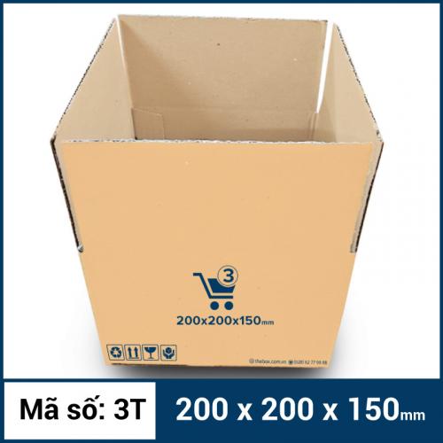 Thùng Carton gói hàng kích thước 200x200x150mm mẫu giỏ hàng-5