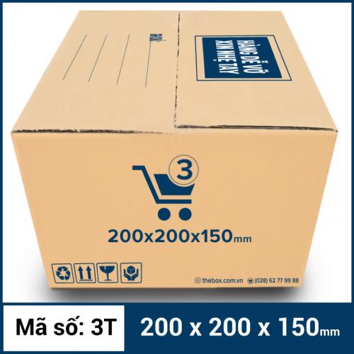 Thùng Carton gói hàng kích thước 200x200x150mm mẫu giỏ hàng-6