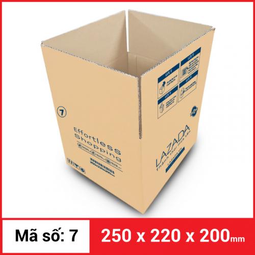 Thùng Carton gói hàng kích thước 250x220x200mm-3