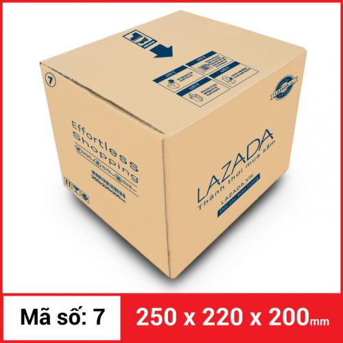 Thùng Carton gói hàng kích thước 250x220x200mm-1