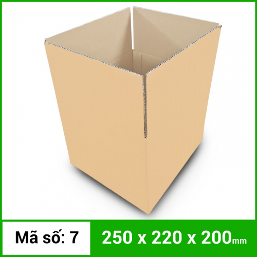 Thùng Carton gói hàng kích thước 250x220x200mm không in-3