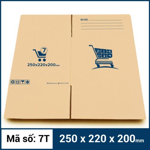 Thùng Carton gói hàng kích thước 250x220x200mm mẫu giỏ hàng-2