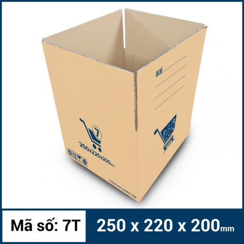 Thùng Carton gói hàng kích thước 250x220x200mm mẫu giỏ hàng-4