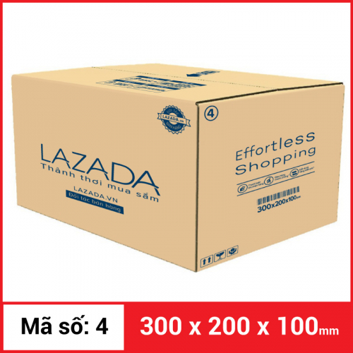 Thùng Carton gói hàng kích thước 300x200x100mm
