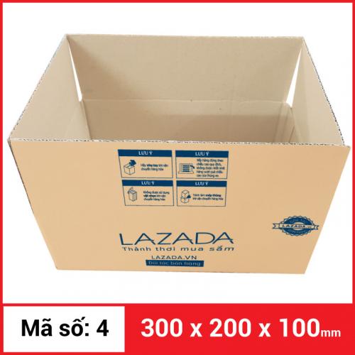 Thùng Carton gói hàng kích thước 300x200x100mm-2